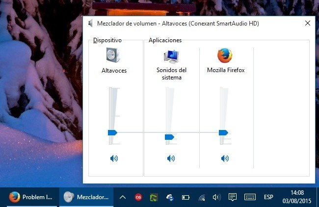 Iniciar el Mezclador de volumen en Windows 10Iniciar el Mezclador de volumen en Windows 10