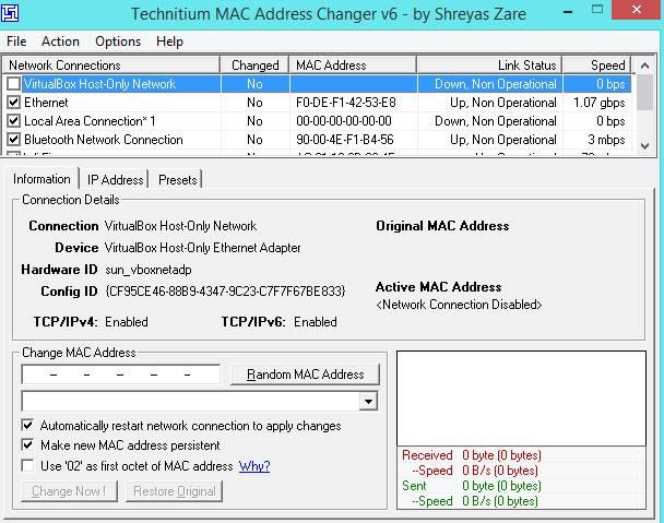 Cómo cambiar la dirección MAC de un ordenador en Windows 7