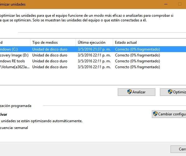 Cómo desfragmentar un disco en Windows 7