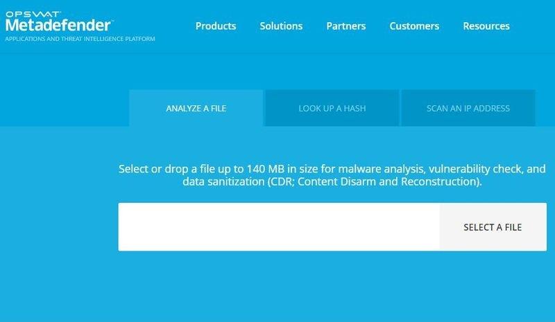 Metadefender Cloud: una forma avanzada de comprobar si hay virus en línea
