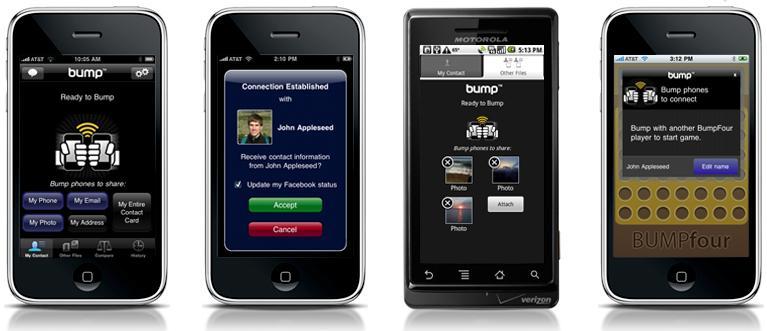 Bump - El iPhone como unidad flash inalámbrica