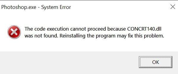Cómo descargar CONCRT140.DLL y solucionar un error al iniciar un juego o programa