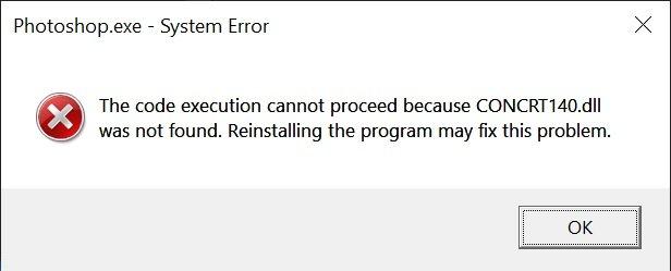 Si të shkarkoni CONCRT140.DLL dhe të rregulloni një gabim kur filloni një lojë ose program