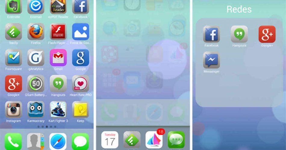Cómo hacer que Android se parezca a iOS (iPhone) con Espier launcher