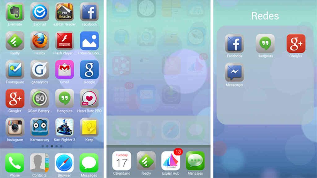 Si ta bëni Android të duket si iOS (iPhone) me lëshuesin Espier