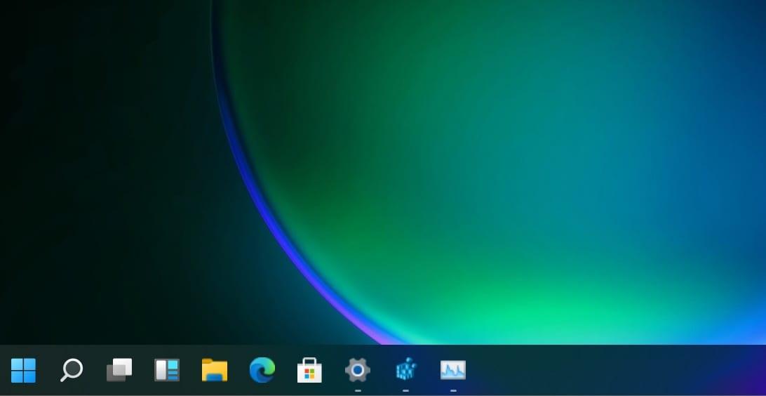 Barra de tareas de Windows 11 en la parte superior y otras características de Taskbar11