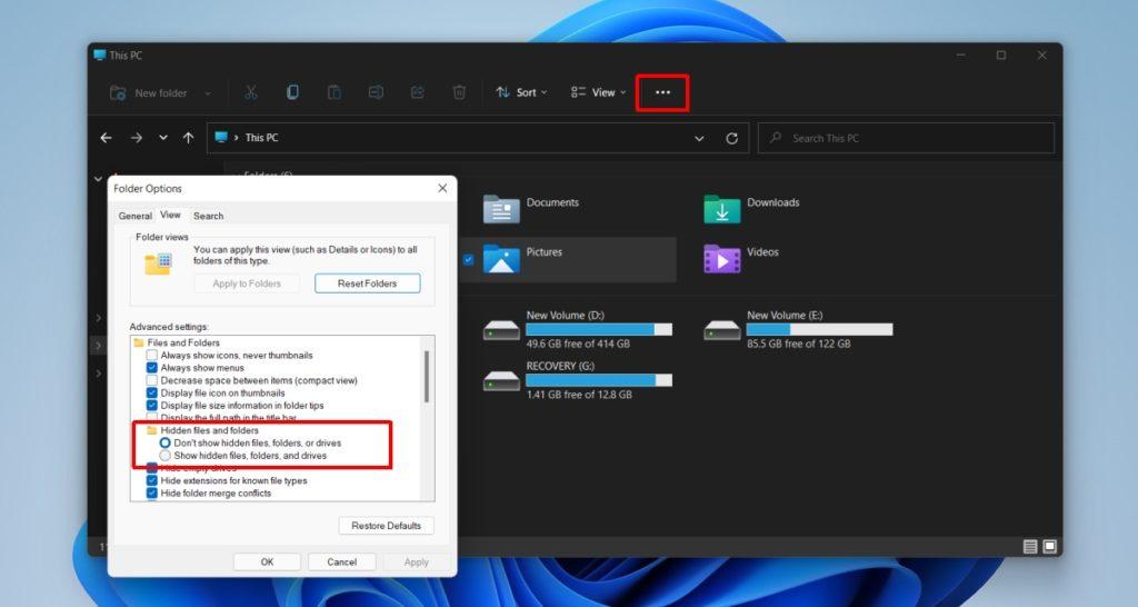 Kumaha nunjukkeun file anu disumputkeun dina Windows 11
