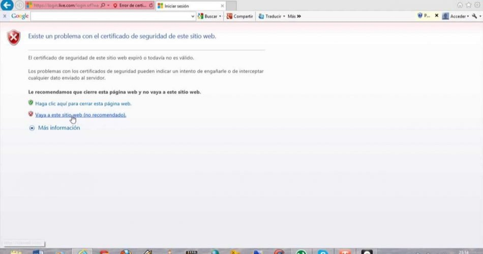 Formas de tratar un error de certificado de seguridad del sitio web